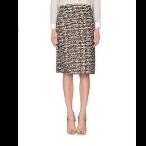 s max mara linen brown pencil skirt size 4